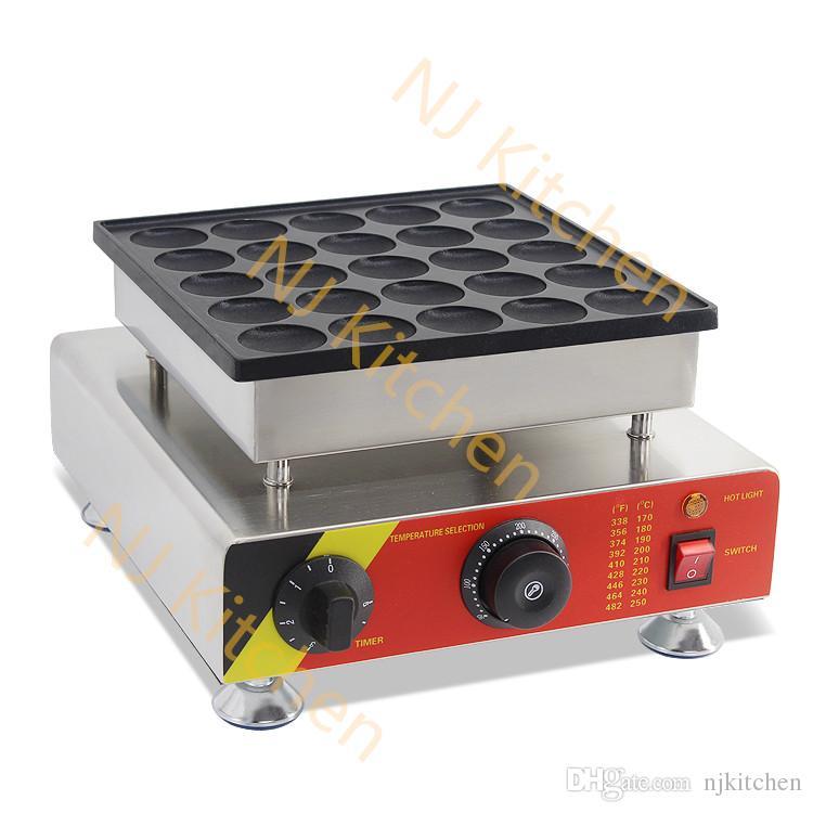 Livraison gratuite utilisation commerciale 110v 220v 25 creux Poffertjes grill machine fabricant mini pancake fer pancakes feuilletés machine