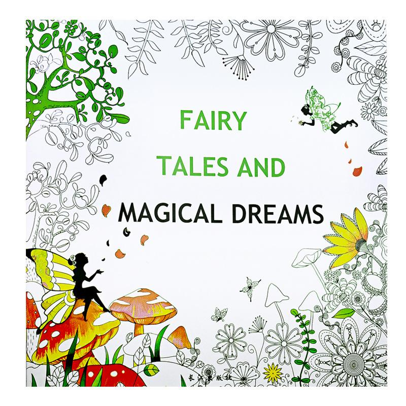 Fairy Tales And Magical Dreams Coloring Book Painting Mandalas Secret Garden Color Drawing Alice In Wonderland 2525cm 24pages Print Books