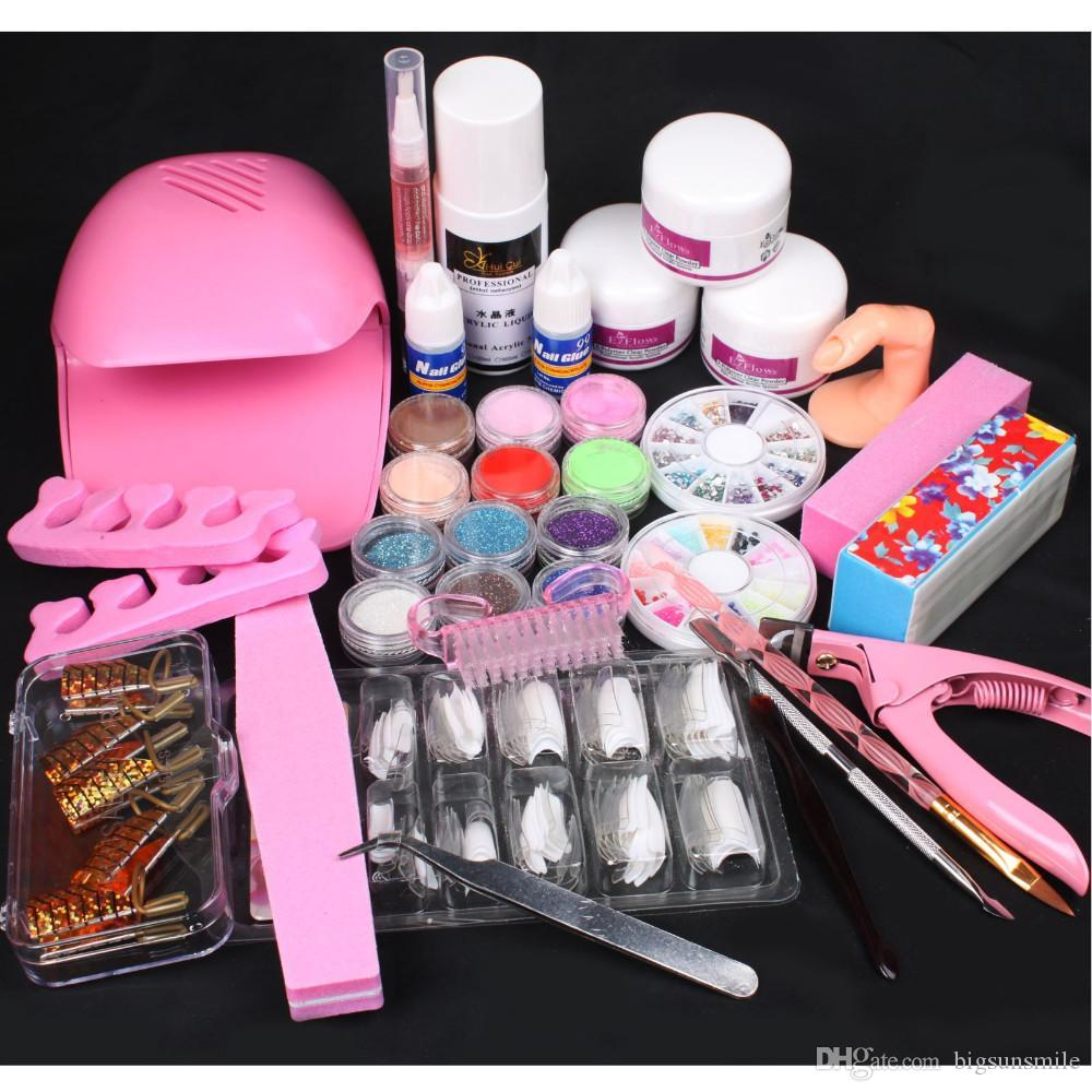 Wholesale Nail Art Pink Hand Dryer Blower Acrylic Liquid Powder Form ...