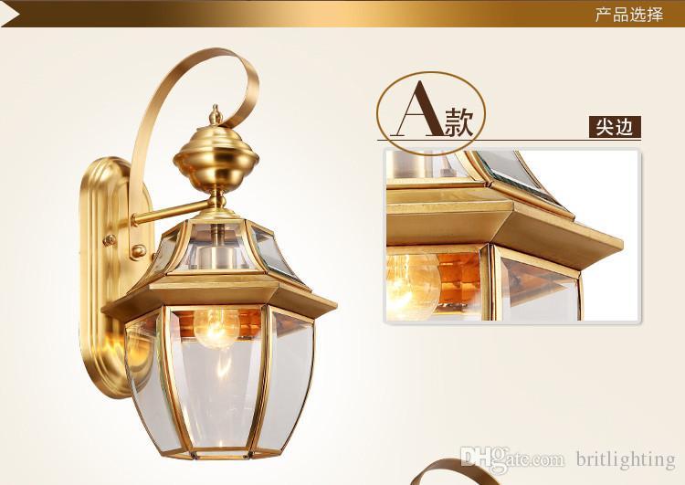 Acquista applique da parete in bronzo antico colore oro lampade