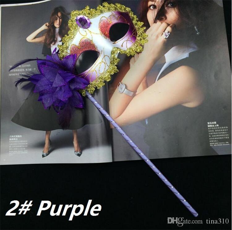 Neue venezianische halbe Gesichtsblumenmaske Maskerade-Partei farbige Zeichnung reizvolle Halloween-Weihnachtstanz-Hochzeits-Partei-Maske I050