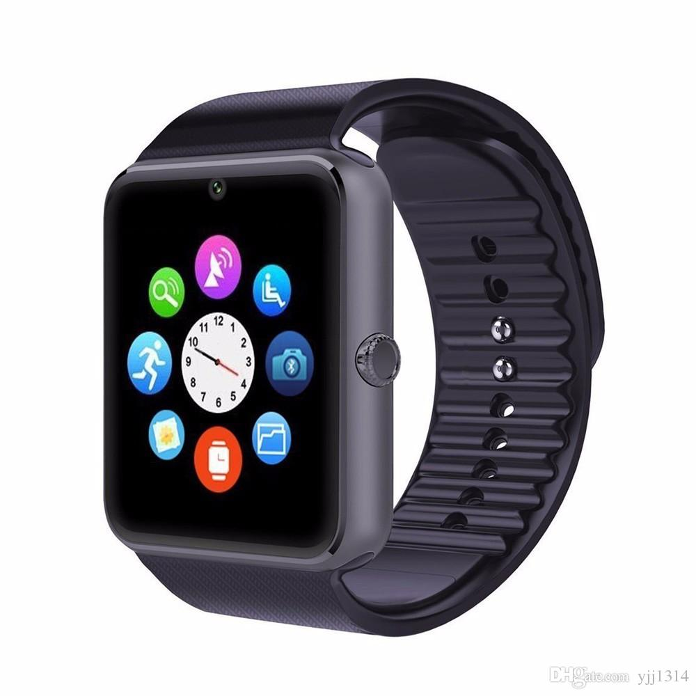 GT08 Smart Watch Clock Sync Notifier Support Sim Card Bluetooth Connectivity For Apple iphone Android Phone Smartwatch