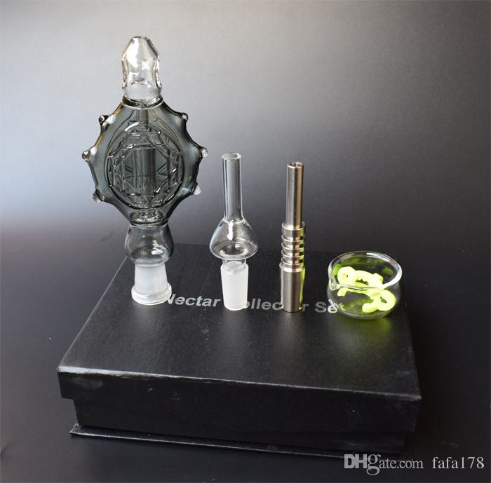 2017 Hot Selling Nectar Collector Pendants Completed Kit Pendants Base domeless nail Titanium nail 14mm oil rig Recycler Glass bong