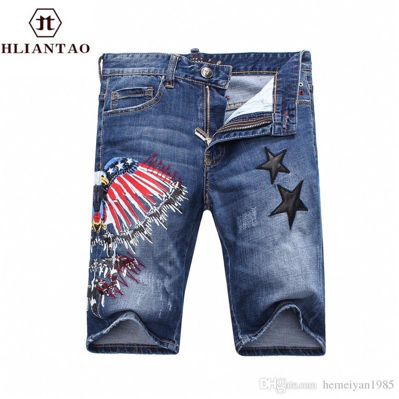 0d87f78abc 2017 Summer Denim Shorts Male Jeans Men Jean Shorts Bermuda Skate ...