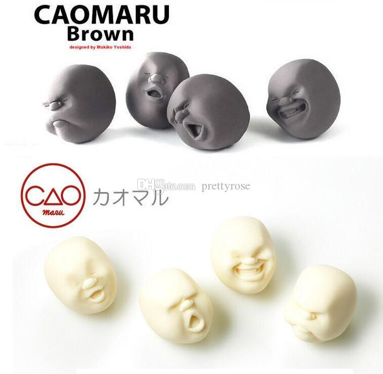 Hot Sale CAOMARU Human Face Emotion Vent Ball Toy Resin Relax Doll Adult Stress Relieve Novelty Toy Anti-stress Ball Toy Creative Gift