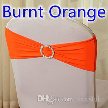 Burnt Orange Colour On Sale Chair Sash With Round Buckles