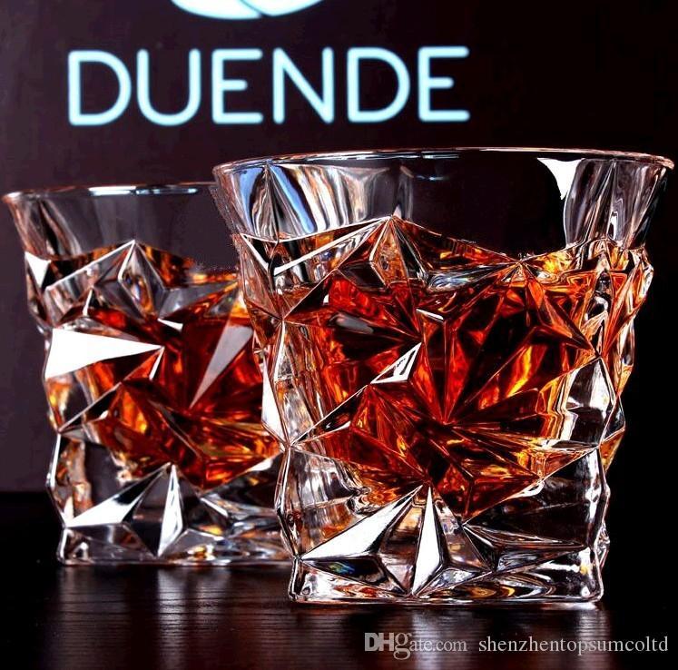 2 UNIDS / Set Cuadrado Copa de Cristal de Whisky de Cristal Para el Bar Casa Cerveza Agua y Fiesta Gafas de Boda para Hotel Regalo