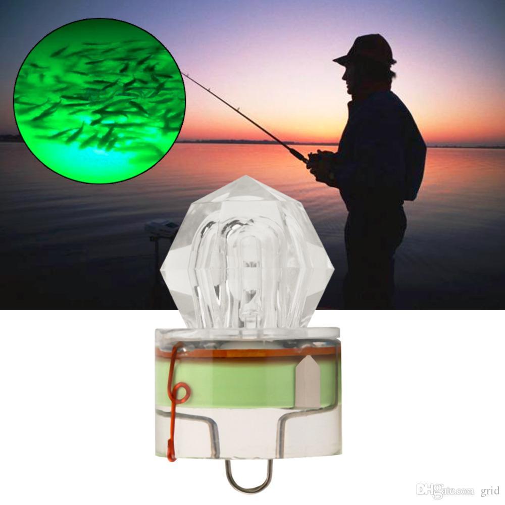 Pesca de rejilla LED gota Submarino diamante de luz intermitente cebo de señuelo de calamar estroboscópico lámpara popular peces de aguas profundas Accesorios de pesca