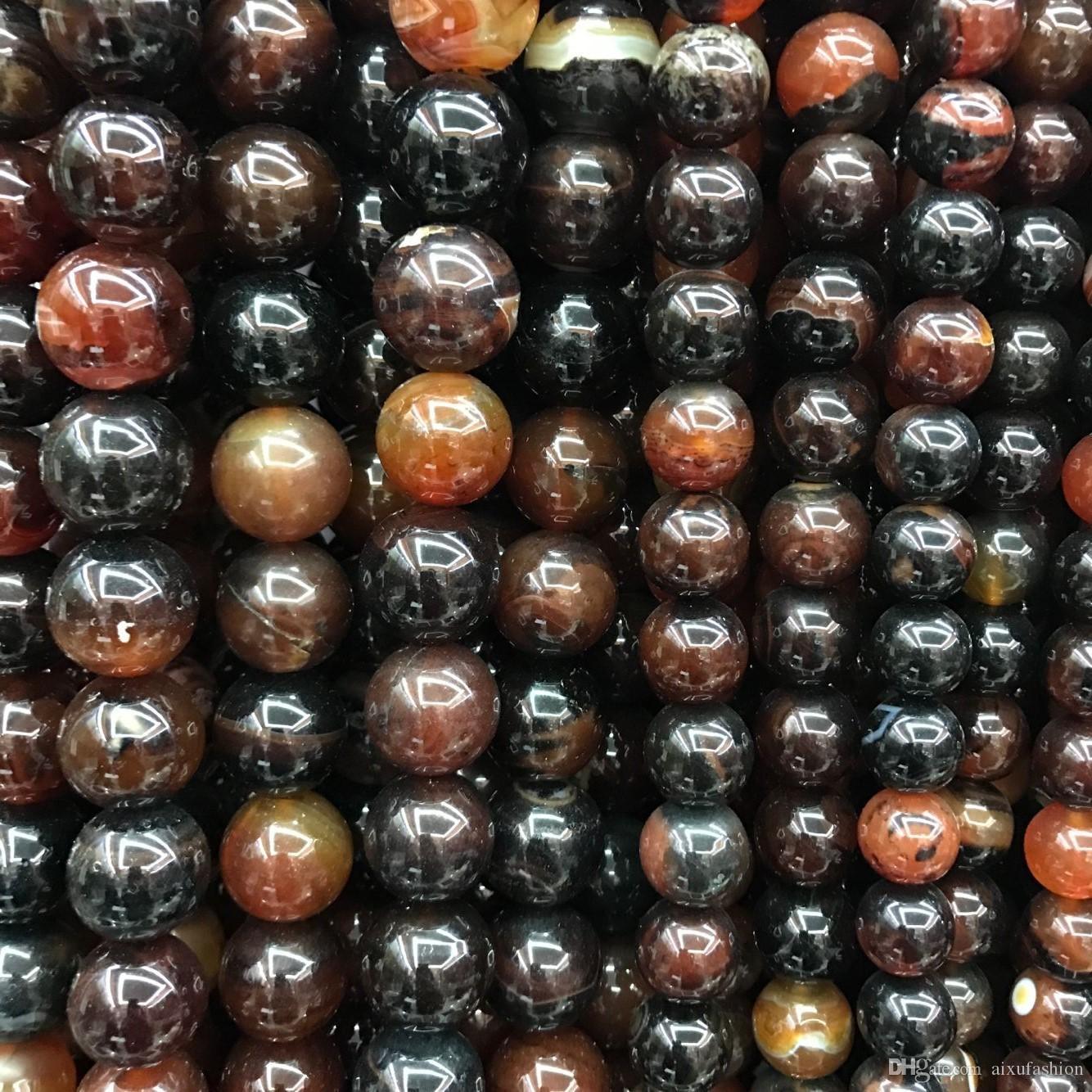 20mm Tea Dragon Gem Polish Beads Wholesale Round Natural Loose Stone Bead For Jewelry Making Stone Onyx Diy Bracelet Strand 40cm