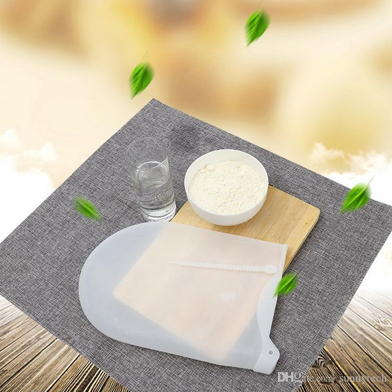 New DIY Cooking Pastry Tools Soft Silicone Preservation Magic Kneading Dough Bag Flour-mixing Bag Women Kitchen Tool S2017353