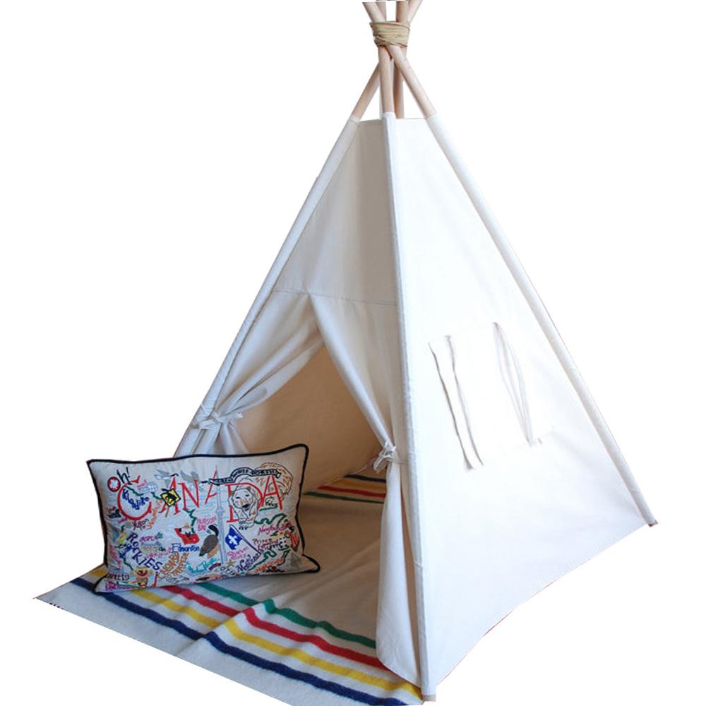 Wholesale Pure White Hot Selling Kids Teepee Tent Canvas Teepee And 4 Wooden Poles Kids Play House Tents Kids Outdoor Tents For Kids From Sightly ...  sc 1 st  DHgate.com & Wholesale Pure White Hot Selling Kids Teepee Tent Canvas Teepee ...