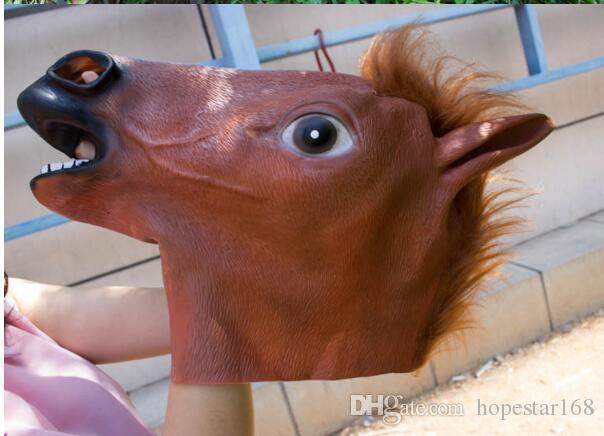 زاحف الحصان قناع رئيس هالوين زي مسرح الدعامة الجدة المبيعات الساخنة رئيس أقنعة حزب اللاتكس المطاط شحن مجاني