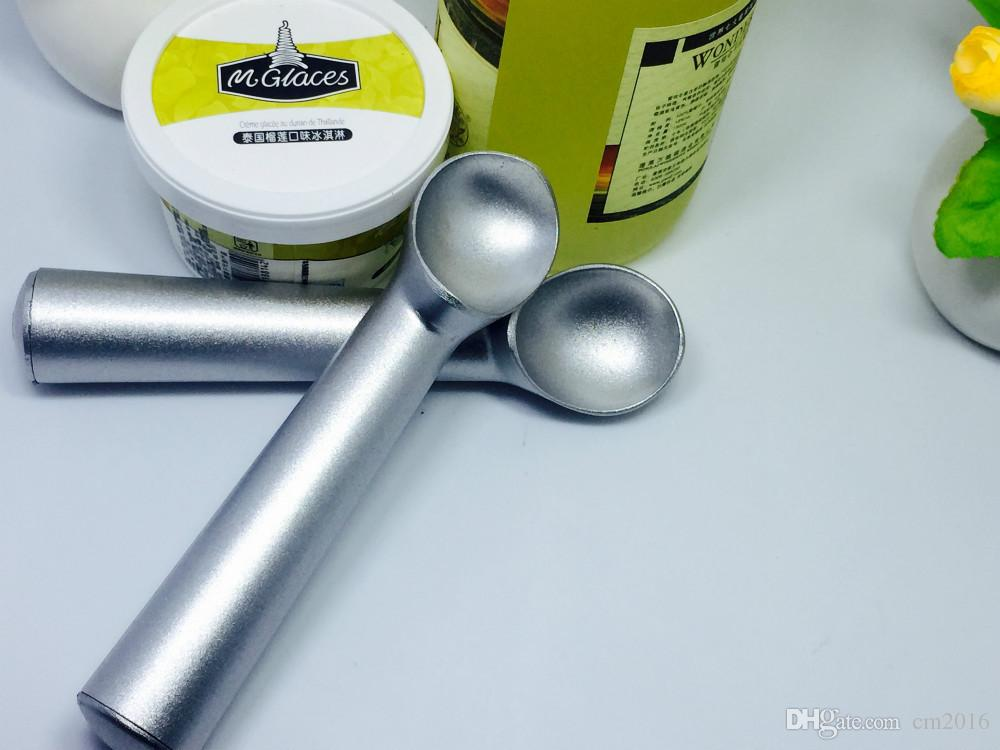 Silver gray Black Kitchen Deluxe Metal Non-Stick Anti-Freeze Ice Cream Scoop Spoon 18cm long