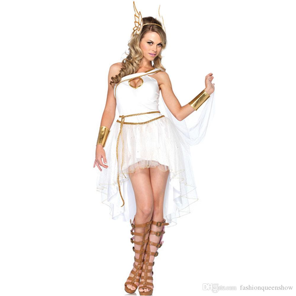 ladies greek goddess cosplay costume adult fancy dress white fairy