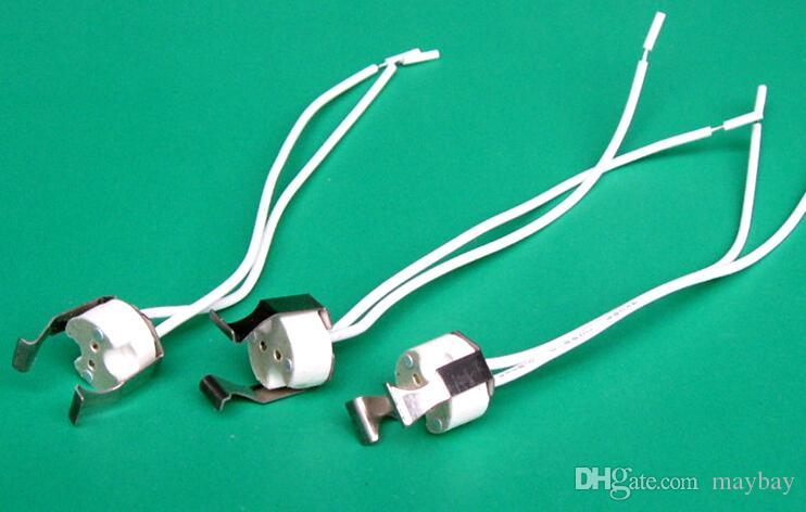 MR16 Lamp Holder with Clip Durable Fixed Spotlight Base Socket for LED Halogen Light