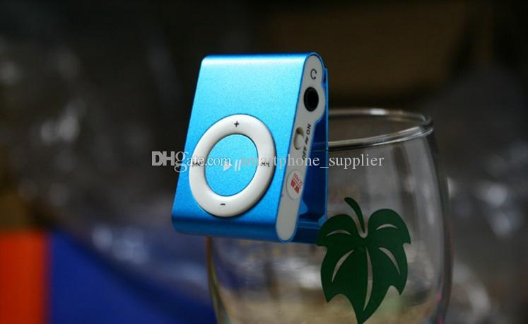 Mini Clip MP3 Player Cheap Colorful Support mp3 Players with Earphone, USB Cable, Retail Box, Support Micro SD/TF Cards