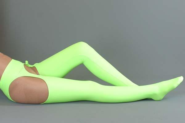 2015 new Arrivals zentai spandex catsuit sexy light green long stocking ,Can be Custom And Free Shipping