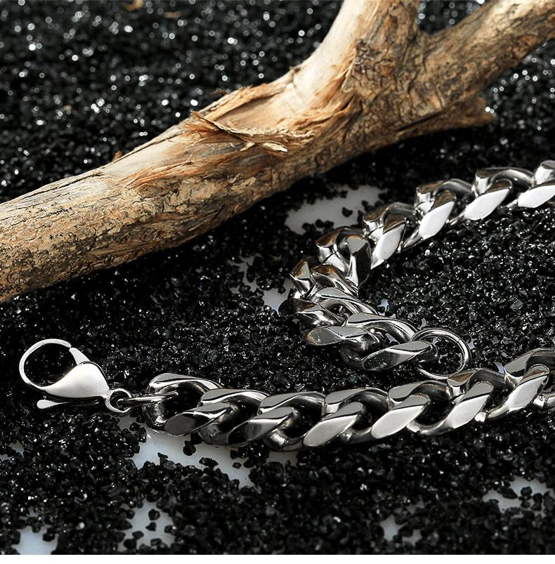 Width11MM fashion hip-hop European and American style men and women Four - sided grinding section chain 304 stainless steel