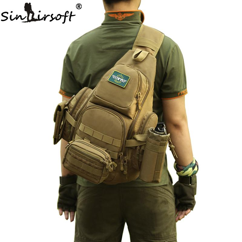 23579f6bcd0 SINAIRSOFT 14iches Laptop Molle Backpack Men Nylon Sports Bag ...