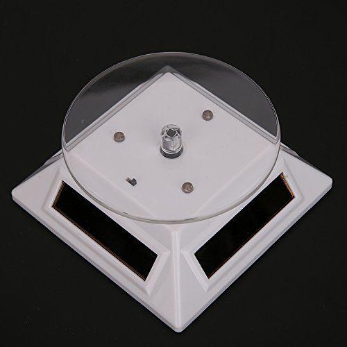 Nuovo giradischi girevole a 360 gradi giradischi gioielli, espositore solare con 3 luci a LED colorate