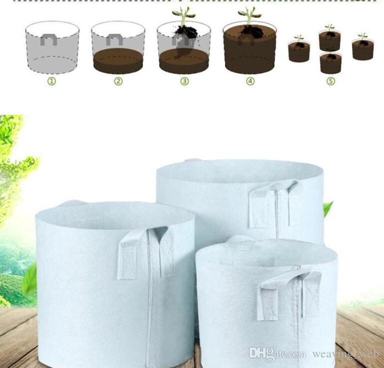 50x40cm Pots Breathable Grow Promote growth Portable Planting flowerpot environmental protection Reusable Soft-Sided Planters Implant bag SF