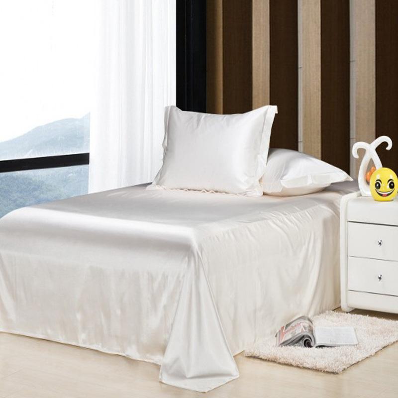 Incroyable Wholesale Wholesale!100%soft Skin Satin Silk Bed Sheet Bedding Set  Bedclothes Bed Linen Home Textile,Sabanas Pillowcase Ropa De Cama Grey And  White Duvet ...