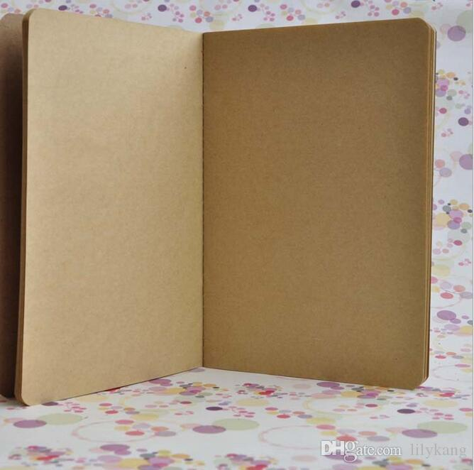 21x14 cm kraft kağıt Dizüstü inek derisi kağıt dizüstü boş not defteri eski yumuşak lekelemek günlük notlar vintage seyahat d ...