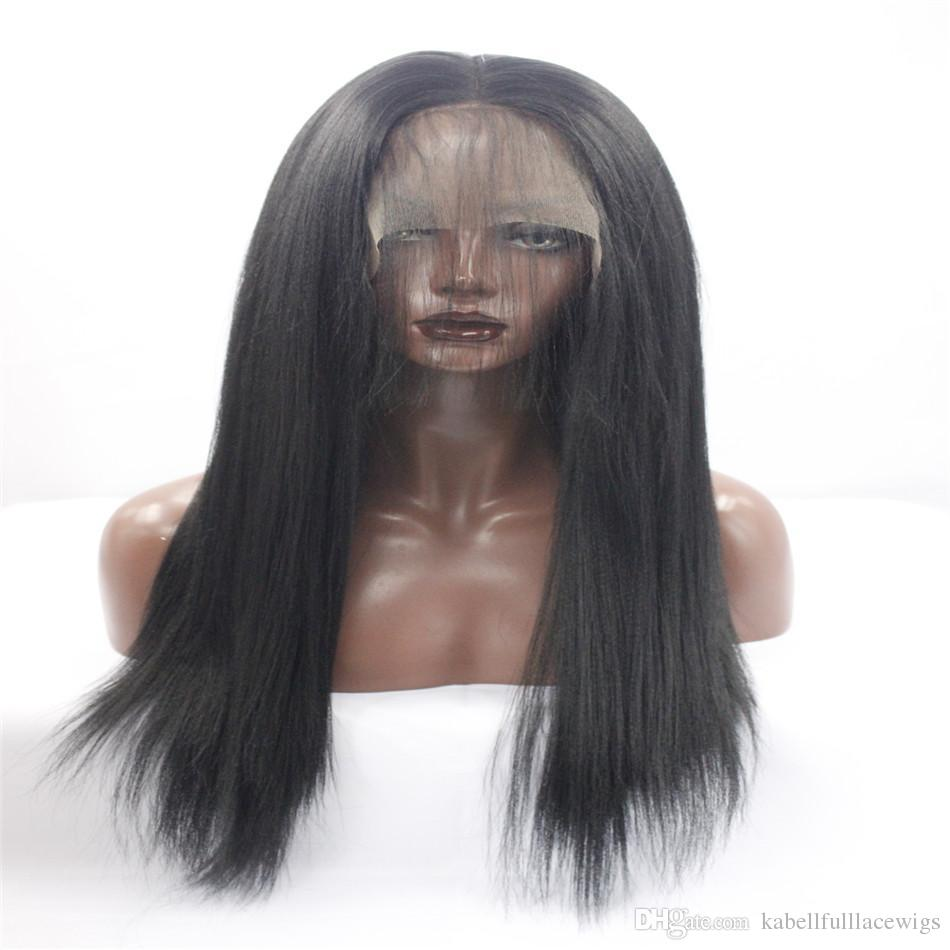 Kabell Fashion Lace Front Wigs Women Lace Front Natural Black Long Straight  Side Part Synthetic Wig Hair 22    African American Fa Full Lace Wigs  Virgin ... c18659b9b8b3