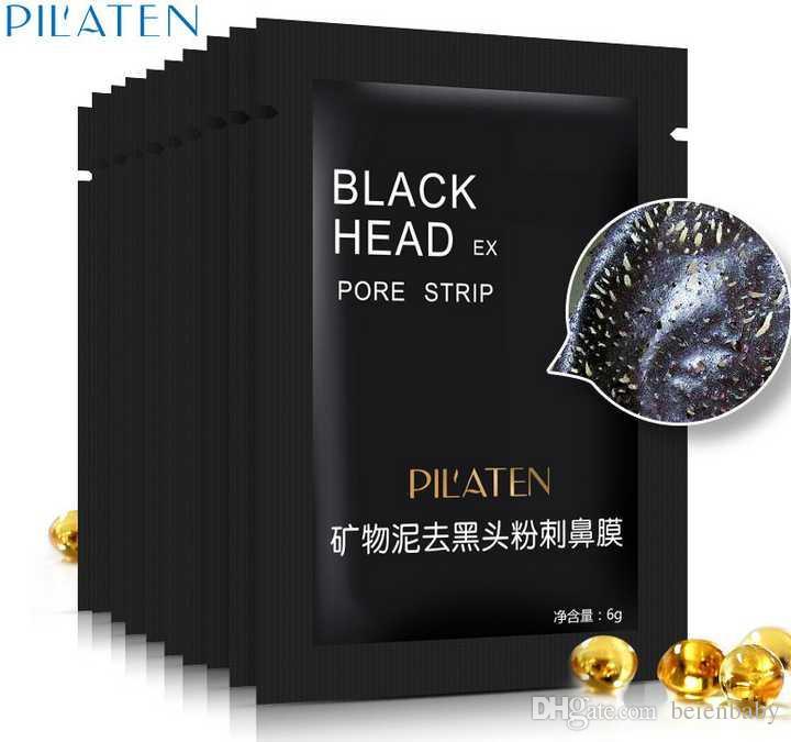PILATEN 6g Cura del Viso Minerali Conk Naso Maschera di rimozione di comedone Detergente Pulizia profonda Testa nera EX Pore Strip