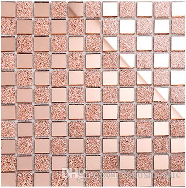 2018 Shiny Glass Mosaic Tiles, 12x12 Home Decor Tiles, Rose Pink ...