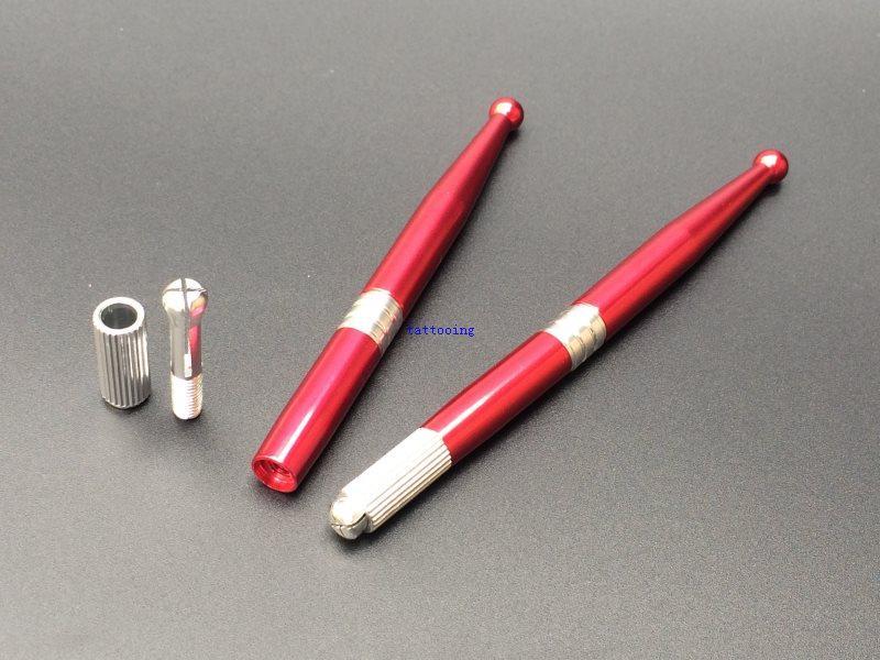 10 ADET için Yüksek Kalite El Yapımı Manuel Dövme Kalem Kalıcı Kaş Makyajı Microblading Nakış Kalem