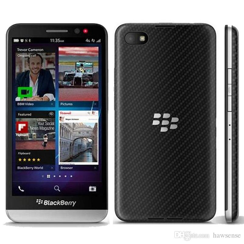 Refurbished Original Blackberry Z30 US EU Unlocked 4G LTE Mobile Phone 5.0 inch Dual Core 2GB RAM 16GB ROM 8MP Smart Mobile Phone DHL 1pcs