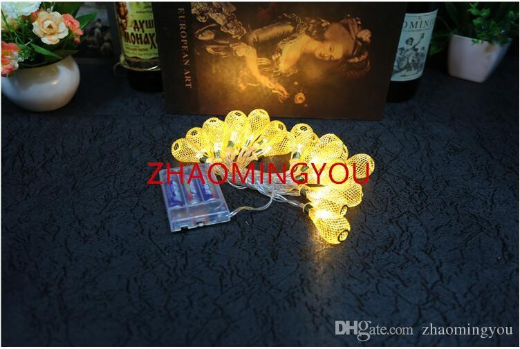 2.2M 20led Battery led string LED Metal Drip String Lights Patio Wedding Party Christmas lights Bedroom Holiday Decoration