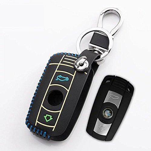 Generic Car Key Leather Case Remote Holder For Bmw 1 3 5 Series X1 ...