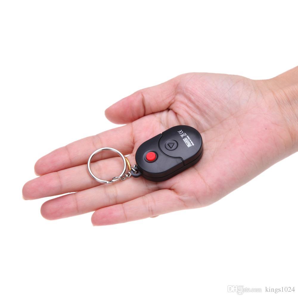 Mini Key Ring LCD Digital Chromatic Tuner with Mic Black