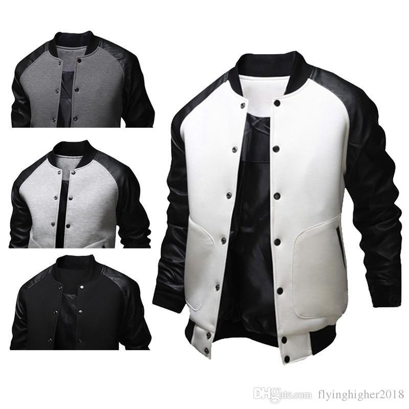 Мода мужская осень американский стиль университетский бейсбол леттерман колледж университет куртка пальто M-XXL бесплатная доставка