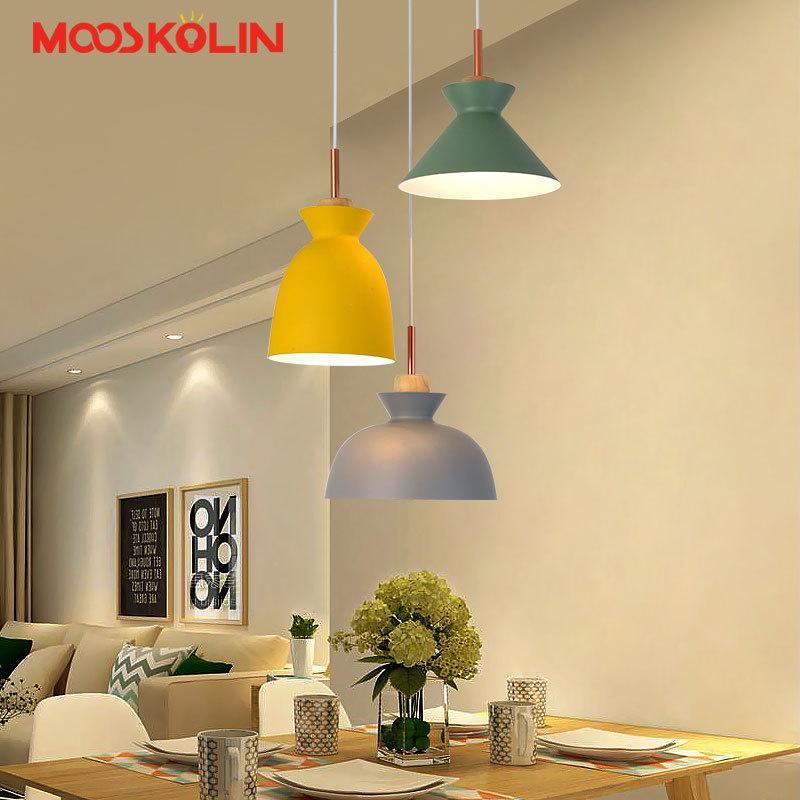 Scandinavian Nordic Modern Pendant Lights Wood And Iron Restaurant Kitchen  Bar Coffee Dining Room Led Hanging Light Fixture Low Voltage Pendant  Lighting ...