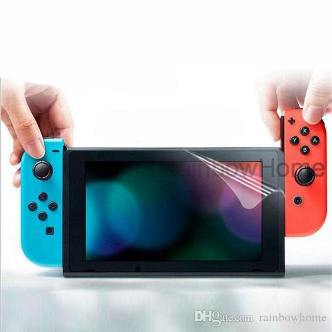 Anti Scratch Ultra Clear Screen Protector Protective Film Guard for Switch NS Console Full HD PET Skin High quality cleaning cloth