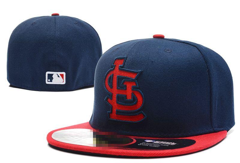 fa3df4a91ba Classic Cardinals Fitted Hats Baseball Caps Flat Brim Hats Fits Size ...