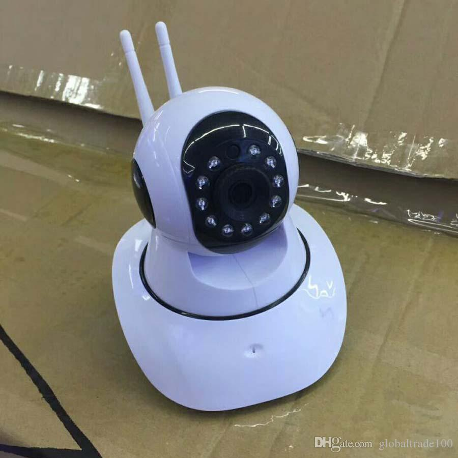 Wi-Fi Home Smart Security Wireless Smart IP Camera with TF Card Slot Dual Antenna Recorder V380 Baby Monitor