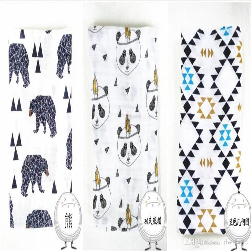 17 تصميم الكرتون الثعلب الدب الذئب الباندا الشاش بطانية عدن أنيس الأطفال قماط التفاف البطانيات إسفنج الطفل الرضيع بطانية
