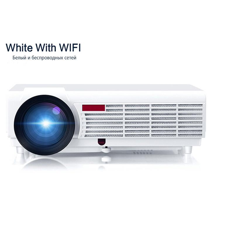 Wholesale- LED Home Cinema Android 4.4 WiFi Projector with 5500lumens Brightness Smart Multimedia LCD Video Games HDMI D-TV Proyector