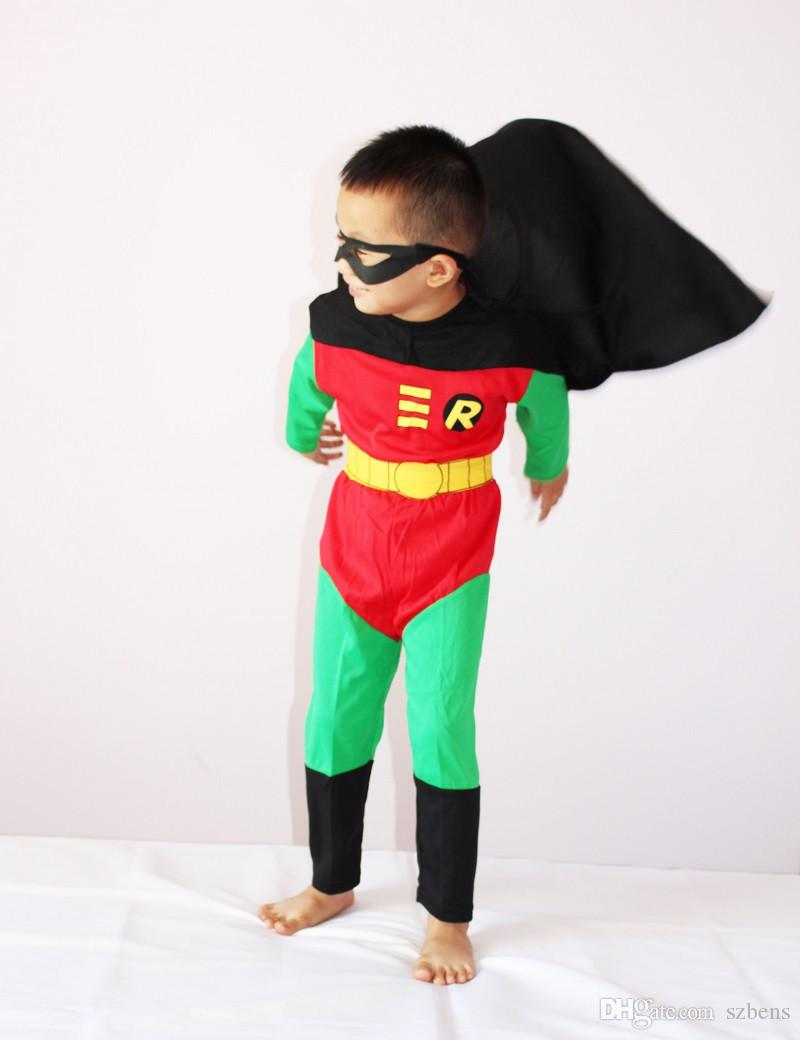 Boy Robin Costume Halloween Costume For Kids Robin Muscle Cosplay Costume Disfraces Carnaval Clothing Set 3 7years S Xxl Costume Party Themes Funny Group ... & Boy Robin Costume Halloween Costume For Kids Robin Muscle Cosplay ...