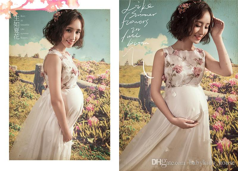 Maternity photography props Pregnancy Clothes Lace Maternity Dresses For Pregnant women Props Fancy shooting photo dress