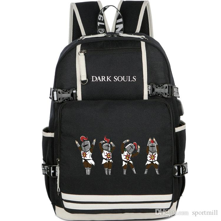 203748f2918b 2019 Dark Souls Backpack Unique Player School Bag Fans Printing Daypack  Game Schoolbag Outdoor Rucksack Sport Day Pack From Sportmill