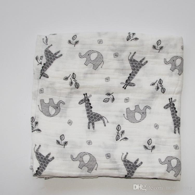 Nouveau bébé Été 100% Mousseline de coton monocouche bébé serviette nouveau-né couverture bébé swaddle infantile wrap 120x120 cm