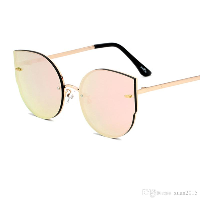 4e129d5d11 2017 New Cat s Eye Sunglasses Women Men Fashion Metal Frameless Sun Glass  Personality Alloy Frame Glasses Lady UV400 Y127 Cat s Eye Sunglasses Women  ...