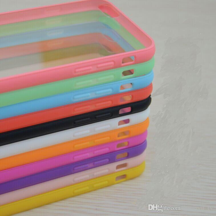 Casos novos do telefone do estilo para o iphone 6 / 6s / 6plus / 6s mais / 7 / 7plus TPU + o humor acrílico Frame transparente do silicone Protetor Protetor Dirt-resistente