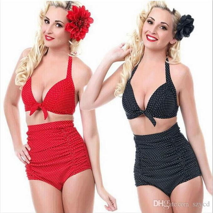 2017 Hot Sale Plus Size High Waist Swimsuit Push Up Swimwear Bikini Women Bathing Suits Printed Floral Large Swimsuit