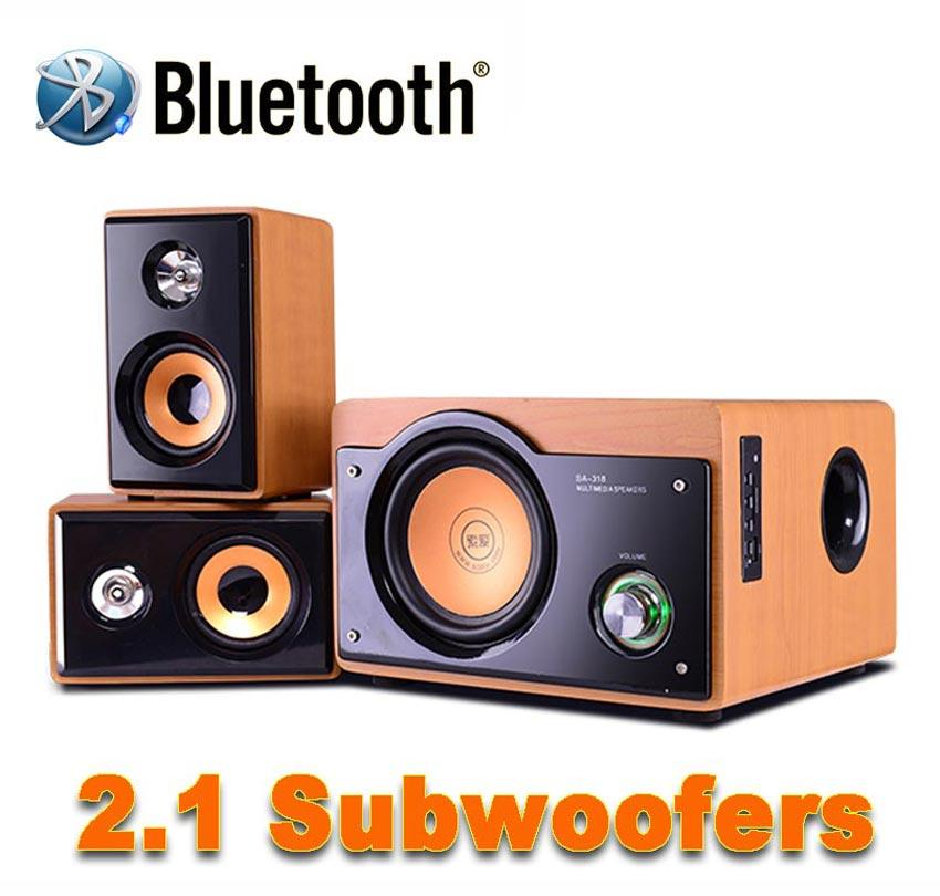 68d72db0d56 Wholesale New 2.1 Hi Fi 5 Inch Subwoofer Audio System Bluetooth Wooden  Subwoofer Support TF Card And USB Audio Playback And FM Radio Media Room  Design ...